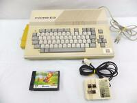MSX FUJITSU PERSONAL COMPUTER FM-X & ATHLETIC LAND w/RF SWITCH