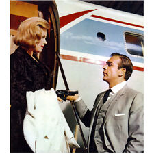 Honor Blackman Pointing Gun at James Bond by Plane 8 x 10 Inch Photo