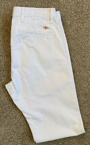 WORN ONCE LEVI'S DOCKERS ALPHA SLIM FIT WHITE CHINO TROUSERS 32 W 34 L