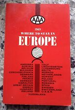 """Vintage """"Where To Stay In Europe""""/1969/AAA World-Wide Travel/448 p/29 Countries."""