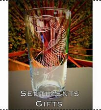 Engraved Pint Glass With Carp Design - New - Fishing