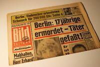 BILDzeitung 18.11.1963 November  Geschenk Geburtstag 60. 58. 59. 57.