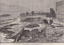 1882  --  CANNES  INONDATION DE LA CROIZETTE sic LE 28 OCTOBRE   3I820