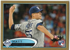 MATT MOORE TAMPA RAYS ROOKIE 2012 TOPPS GOLD #129 SERIAL #d of /2012 NEAR MINT!