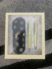 More details for new radley pen and pencil set with black leather dot case bnib