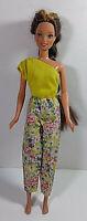 Vintage Barbie Doll Clothing Jumpsuit Mattel Floral One Shoulder Romper 1987