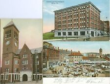 Bangor ME Collector's Set: Pickering Square,Eastern Trust & Banking Co,City Hall
