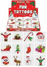 12 Christmas Temporary Tattoos - Stocking Toy Loot/Party Bag Fillers Children