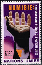 UN Namibia African Country Map stamp 1982 MNH