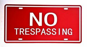 NO TRESPASSING Metal Tin Sign  Decor Bar Pub Home Vintage Retro Poster Cafe