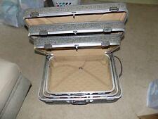 Amelia Earhart 3 Piece Tweed Hard Rolling Luggage 3 Suitcases
