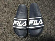 FILA Sleek Slide Men's Blue/White Sandal Slides Size 12 NWOB FREE SHIPPING