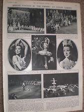 Photo article ballet Margot Fonteyn Firebird at Covent garden 1954 ref X3