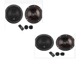 "4 Audiopipe, 6-3/4"" Component Car Speakers 175 W Rms, 350w Peak, 2-Way X-Over"