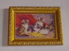 1:12 Bild mit Kätzchen 8x6 cm FL0490 für die Puppenstube