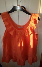 TU Womans Orange Sleeveless Top  Size 8