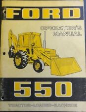 Ford 550 555 4 X Service, Repair, Operator, & Parts manuals PDF CD