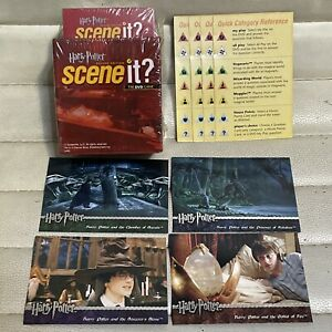 Game Parts Pieces Scene it Harry Potter DVD 2005 Mattel Trivia Cards Holder Only