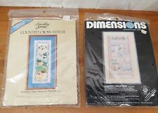Lot of (2)  Vintage NOS Cross Stitch Kits Dimensions 4 Seasons Country Patterns