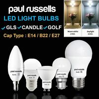 Paul Russells Led Light Bulbs 3W 4W 5W 7W 12W (25/40/60/100 Watt)E14 B27 B22