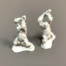 2PCS Orc Warriors Reaper Miniatures Dark Heaven Legends Unpainted Figure Toys