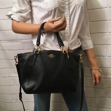 NWT Coach F28993 Pebble Leather Small Kelsey Satchel Crossbody in Black $295