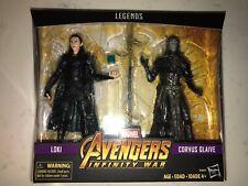 2019 Marvel Legends Loki & Corvus Glaive 2-Pack Walmart Exclusive NEW/SEALED!!