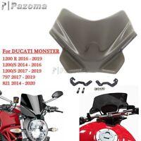 Naked Sport Windscreen For Ducati Monster 821 14 - 20 Monster 797 1200 R 17-19