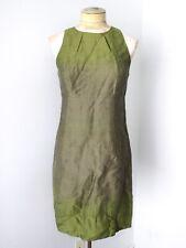 Vince olive green shimmer ombre shift tank career dress linen cotton 4