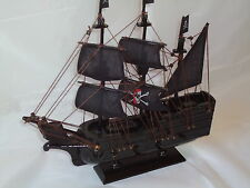 Pirates Ship On Stand - Canvas/Sails/Wood/Mast/Lots Of Detail/The Caribbean
