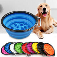 Pet Portable Collapsable Bowl Dog Cat Feeding Water Food Travel Feeder Dish