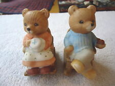 """Vintage Set Of Homco Rocking Chair Bears """" AWESOME COLLECTABLE SET """""""