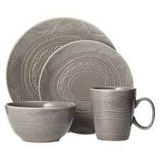 Kennet Dinnerware Set 16pc Charcoal Heather - Threshold™