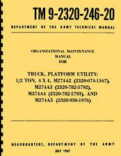 TM 9-2320-246-20 ~ Org Maint Manual ~ M274A2, A3, A4, & A5 ~ Mule ~ Reprnt