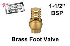 """Foot Valve - 1-1/2"""" (40mm) BSP Female Thread - Brass - Strainer"""