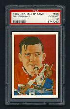 PSA 10 BILL DURNAN 1985 Hall of Fame Hockey Card #139