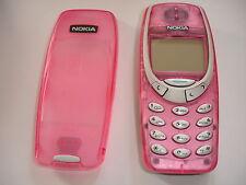 Refurbished pink Nokia 3330 Entsperrt Einfache grundlegende Handy Ladegeräte, sieht super