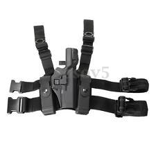Tactical Right Drop Leg Thigh Lock Duty Pistol Holster Glock 17/19/22/23/31