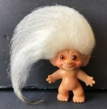 "Vintage 1960s DAM C64 Troll Doll Original Amber Eyes Gray Hair 2"" - A2"