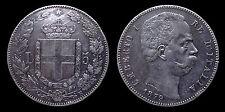 pci1149) Regno d'Italia Umberto I lire 5 scudo 1879