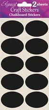 Craft Chalkboard Stickers - Craft Jar Wedding Labels - Choice of Shape