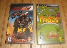 Lot PSP Game ATV OFFROAD FURY PRO New Sealed + Monsters Deluxe Complete in Case