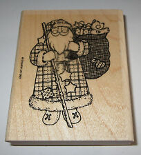 Santa Claus Rubber Stamp Bag of Gifts Stampin' Up! Toys Stars Bear Christmas Lg