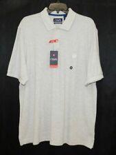 CHAPS RALPH LAUREN NWT Light Gray Short Sleeve Button Polo Shirt Mens sz XL