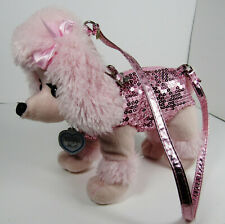 Poochie And Co.Poodle Pink with Pink Sequins Purse 10""