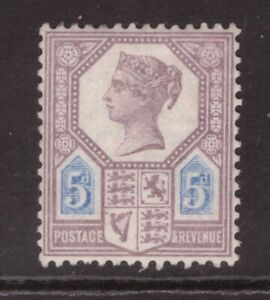 Queen Victoria 1887 Jubilee 5d SG 207a MINT NEVER HINGED MNH