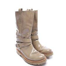 BRUNELLO CUCINELLI Stiefel Gr. EUR 38 Grün Damen Boots Shoes Leather Leder