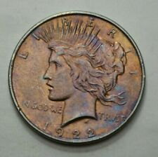 1922-P Peace Dollar Superb Silver US Coin $1 Toned Coin UNGRADED, NO RESERVE $