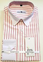 MENS STRIPE LONG SLEEVES SHIRT FORMAL CASUAL BUSINESS OFFICE WEAR  £ 14.99 (470)