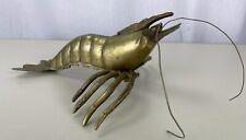 Vintage Brass Lobster Sculptures Sea Life Figures 8� Unique Wall Hanging Decor